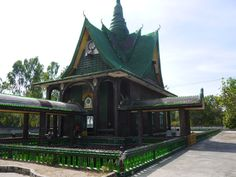 """A rather unusual temple in Thailand is the """"Wat Lan Khuat"""" in Khun Han, Isaan. In English the temple is called the """"Million Bottle Temple"""" or the """"Beer Bottle Temple."""" This temple is not only interesting, it is a testament to the ingenuity and resourcefulness of the Thai monks that built it. #Temple #Thailand #Recycle For more information and a video: renegadetravels.com/beer-bottle-temple-in-thailand/ Photo credit: http://www.renegadetravels.com/"""