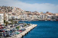 The Best of the Cyclades: Mykonos, Paros & Ios Syros Greece, Mykonos Island, Travel Sights, Greece Islands, Paros, Free Travel, San Francisco Skyline, Touring, Dolores Park
