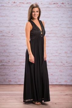 The One For Me Maxi, Black - The Mint Julep Boutique