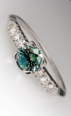 In love with this gorgeous saphire engagement ring by @EraGem