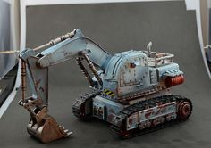 Awesome post apocalypse or future excavator model.