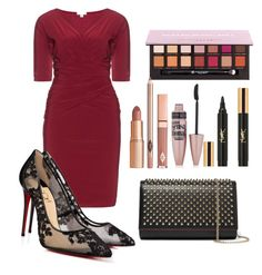 """Untitled #107"" by a-del-c on Polyvore featuring Kiyonna, Christian Louboutin, Anastasia Beverly Hills, Dolce Vita, Maybelline and Yves Saint Laurent"
