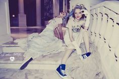 Wildfox Couture is revisiting an old friend: Marie Antoinette. The brand did a collection centered around Marie Antoinette for Spring 2011 (a personal favorite), but it looks like they're giving. Old School Fashion, Glamorous Outfits, Other Mothers, Cool Graphic Tees, Queen, Fashion Images, Photoshoot Inspiration, Marie Antoinette, Wildfox