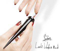 Christian Louboutin's new nail product, Loubi Under Red, is meant for painting the underside of your nail red. // #Nails