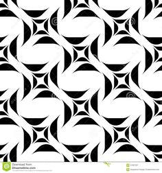 Black And White Geometric Seamless Pattern Stock Vector - Image: 57091301