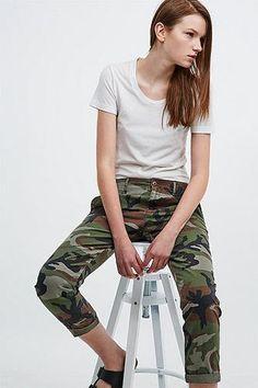 Denim & Supply Ralph Lauren Boyfriend Chinos in Camo #pants #ralphlauren #women #covetme #denim&supplyralphlauren