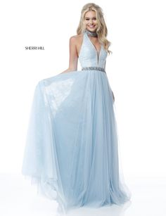 V Neck Long Prom Dress With Crossing Back Straps In 2019 Dresses