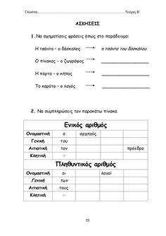 Learn Greek, Greek Language, Grammar Worksheets, Special Education, Literature, Feelings, Learning, School, Literatura