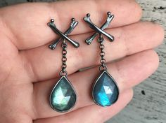 Mourning Earrings by charlotteburkhart on Etsy https://www.etsy.com/listing/268096766/mourning-earrings