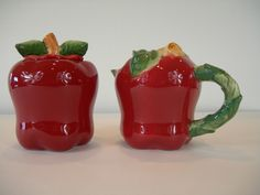 Country Apple Sugar and Creamer set