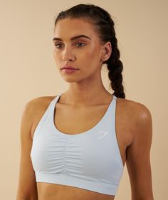 b5e09e35becb0 Gymshark Ease Sports Bra - Ice Blue 1 Gym Supplements