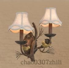 American Country Vintage Bird Living Room Wall Lamp Creative lighting