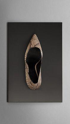 Escarpins en cuir de python | Burberry