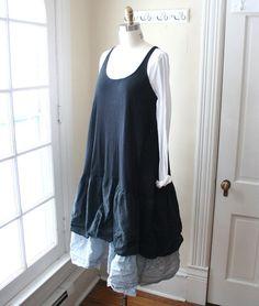 Schürze Kleid / schwarz 'Alice' Jumper / von BreatheAgainDesign
