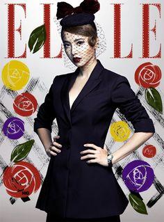Jolin Tsai for ELLE Taiwan November 2015 covers
