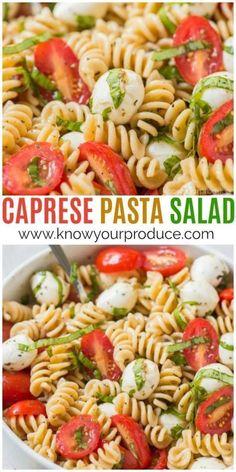 Pasta Salad Make this Caprese Pasta Salad for a delicious vegetarian pasta salad recipe. Everyone will love this easy pasta salad inspired by Caprese Salad, but instead basil tomato mozzarella pasta!Make this Caprese Pasta Salad for a delicious vegetarian Salade Caprese, Caprese Pasta Salad, Easy Pasta Salad, Pasta Salad Recipes, Healthy Pasta Salad, Summer Pasta Salad, Basil Pasta Salads, Tomato Basil Salad, Side Salad Recipes