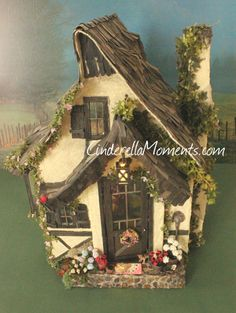 The New Cozy Cottage Custom Dollhouse by cinderellamoments on Etsy, Sold