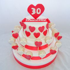 Red and White Love Heart Engagement Cake Pops Sweet 16 Birthday, Birthday Bash, 16th Birthday, Birthday Cake Pops, Cake Sizes, Engagement Cakes, Custom Cakes, Catering, Cake Decorating