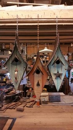 Hangers. Created by Jefferson Garvey, Recycling is for the birds!