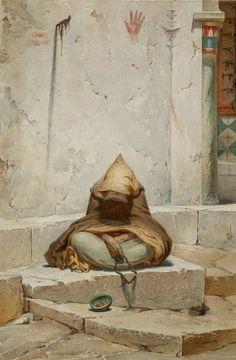 Charles Camino : Arab Mendicant in Meditation Giclee Fine Art Print - Giclee Art - Ideas of Giclee Art Baroque Painting, Arabian Art, Jewish Art, Old Paintings, Urban, Islamic Art, Rock Art, Art Day, Art Lessons