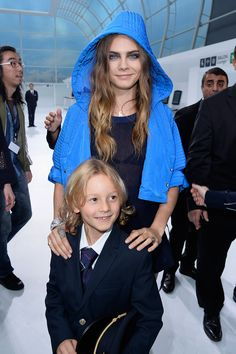 Cara Delevingne, Hudson Kroening - Chanel SS16 Front Row - October 6, 2015 #ChanelAirlines #PFW