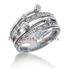 This Round Diamond Right Hand Womens Ring weights approximately 7.6 grams and features 0.40 carats of round diamonds (30 diamonds). This diamond right hand womens ring is available in Platinum, 18k or 14k yellow, rose, white gold, various sizes, and can be customized with any color and quality diamonds. Please note: it will take us 3-5 business days to make this ring for you so please plan accordingly. Please contact us at 212-398-3123 if your size or desired option is not listed.