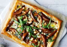 This quick and easy tart recipe is made with Dolcelatte cheese and chopped macadamia nuts.