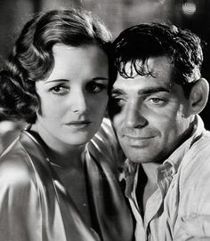 Studio publicity photo of Clark Gable and Mary Astor for film Red Dust, 1932.