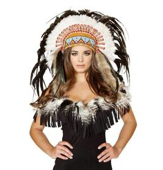 Roma Costume H4471 Native American Headdress