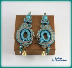 $ 74 Earrings soutache Kolczyki sutasz https://www.etsy.com/es/shop/LidiaArtSoutache?ref=pr_shop_more