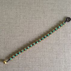 "Braided cord bracelet beads ""turquoise"" on Etsy, $21.18"