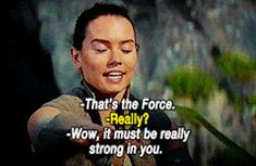 Hahaha! Crusty, old, drama king Luke made me laugh so hard! He's not just strong with the Force, he's also strong with snarky sarcasm, and drama! XD