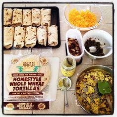 Homemade breakfast burritos for the freezer