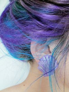 blue & purple... I wish we could all have bright colored hair like the people from the Capitol!