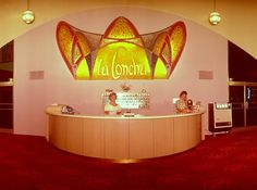 The La Concha Hotel Lobby vintage photo from old Las Vegas.