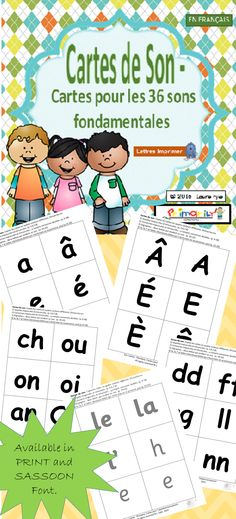 $ Download these consonant, vowel and digraph cards: • as flash cards to check the child's letter-sound recognition. • to play match-up games. • as home study cards once the sounds have been taught. • to create new words on a pocket chart or flat surface (reading). • to identify sounds in words (writing). • to assess letter-sound knowledge. Click to learn more! Have fun! Available in PRINT Letters and SASSOON