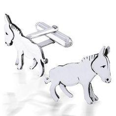 Sterling Silver Donkey Cufflinks Cheap Jewelry Boxes, Political Symbols, Llama Alpaca, Disney Jewelry, Wholesale Jewelry, Jewelry Shop, Gemstone Jewelry, Cufflinks, Creatures