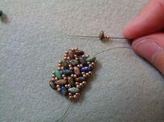 Tweaked Version of SuperDuo Knit Herringbone Bracelet