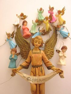 Vintage Angel Ornaments Italy Christmas by JeepersKeepers on Etsy, $16.00
