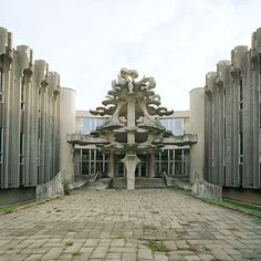Balneological Hospital, Druskinninkai, Lithuania, 2003. © Nicolas Grospierre source