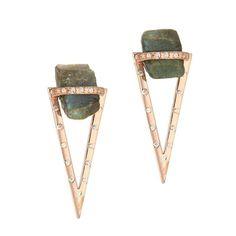 Labradorite Nugget 2-in-1 Earrings | Didi Jewellery