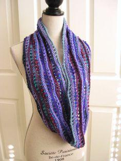 Cowl Scarf CrochetedPurples and BluesHandmade by RoseJasmine, $27.00