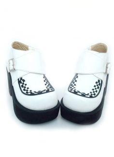 2.0'' Platform 3.5'' Heel White PU Lolita Shoes