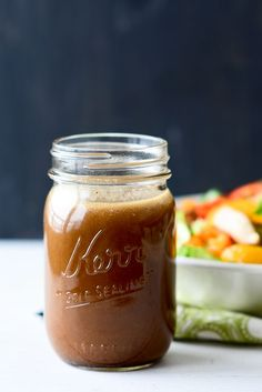 This nutty, sweet, tangy Asian Salad Dressing is the perfect dressing to top an Asian salad. Makes a great marinade too!
