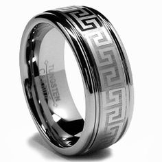 8MM Tungsten Ring Wedding Band with Laser Etched Greek Key Design Sizes 8 to 12 Bonndorf, http://www.amazon.com/dp/B003P6DCHO/ref=cm_sw_r_pi_dp_3vwYqb1ANR95T