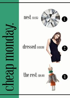 The Steele Maiden: Cheap Monday Series - Modern Holiday Post