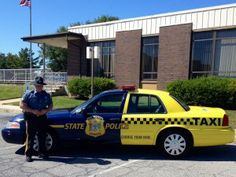 Delaware State Police Sgt. Paul G. Shavack and the cruiser-cab.
