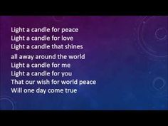Light a Candle for Peace with lyrics - YouTube