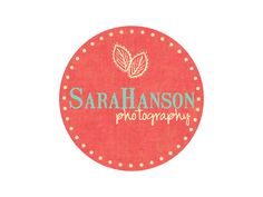 Premade Logo Design for Photographers and Small Crafty Boutiques Rustic Circle Stamp Letters with Leaves. $12.00, via Etsy... colours and design <3