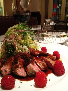 Another shot of the duck breast @ Left Bank. Cooked to perfection...